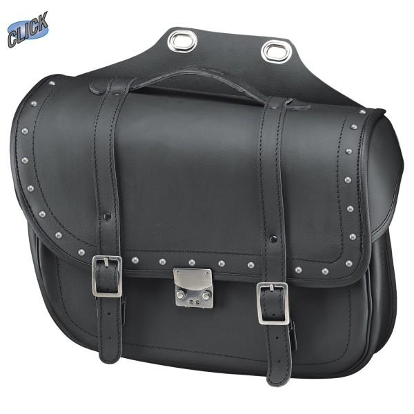 Cruiser Bullet Bag Satteltaschen mit Nieten